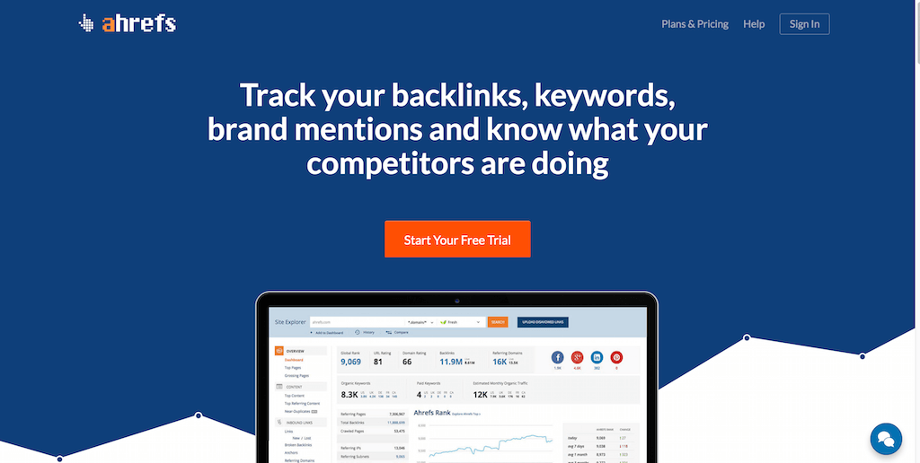 Ahrefs SEO Tools Backlink Checker SEO Report
