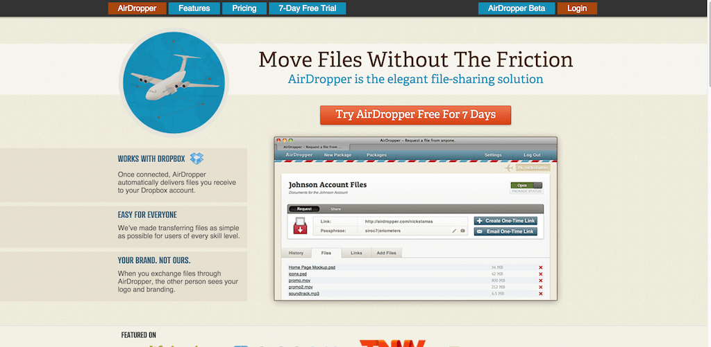AirDropper Move Files Without The Friction.