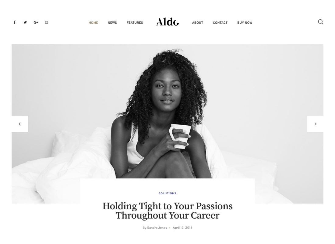 Aldo | Gutenberg Blog WordPress