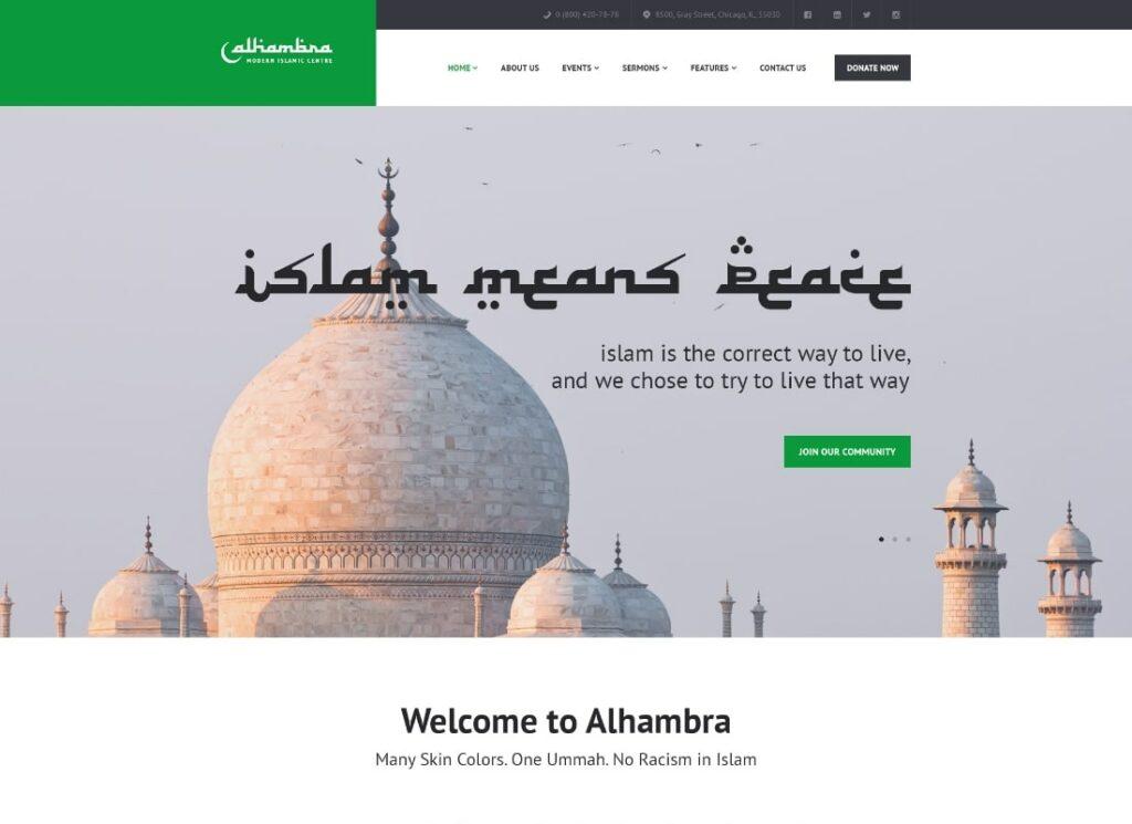 Alhambra | Mosque & Islamic Centre Church WordPress Theme + RTL
