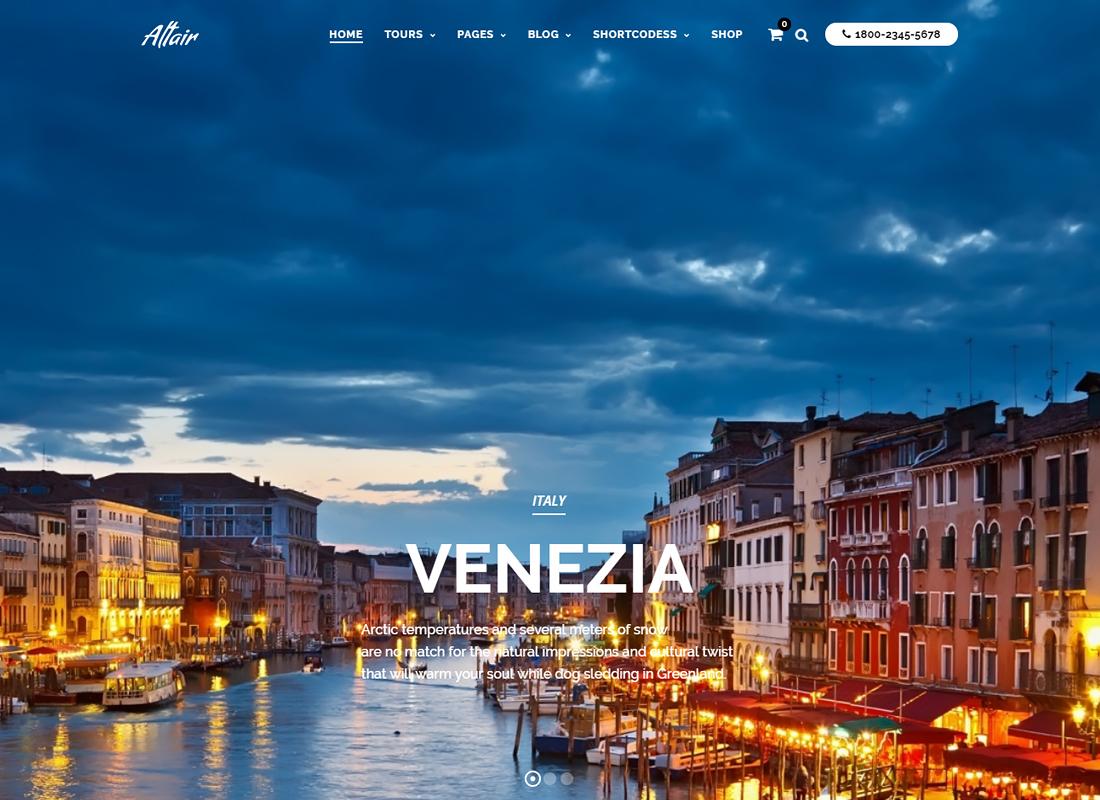 Travel Tour - Altair WordPress for Travel