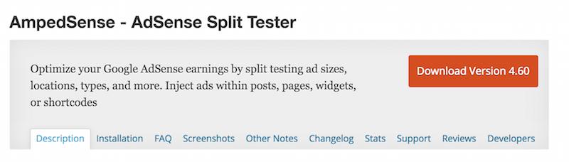 AmpedSense - AdSense Split Tester