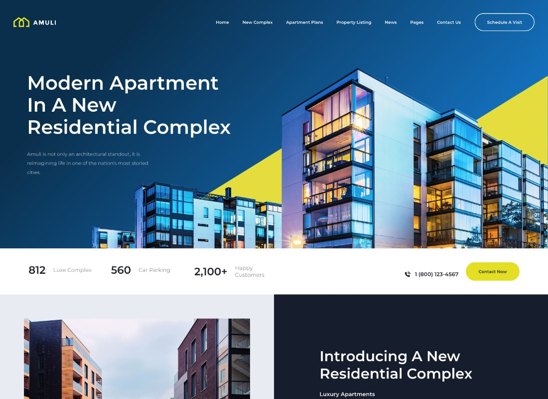 Amuli | Single & Multiple Property Real Estate WordPress Theme