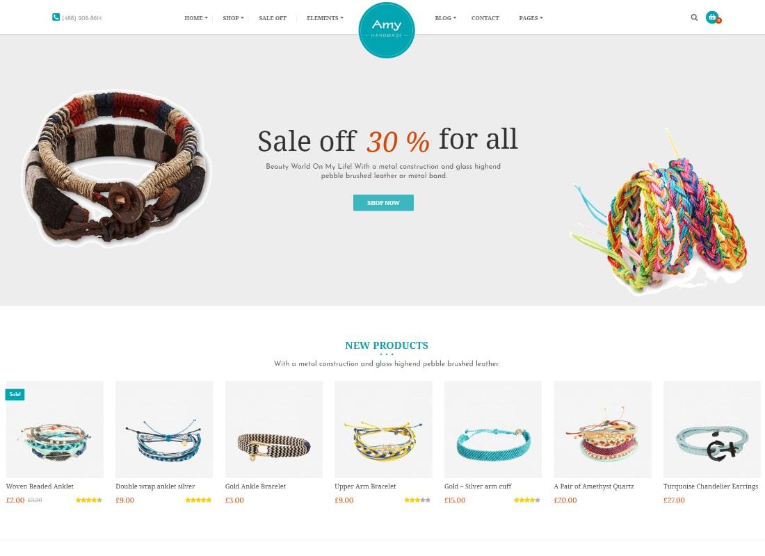 Amy Handmade | Blog and Shop WordPress Theme