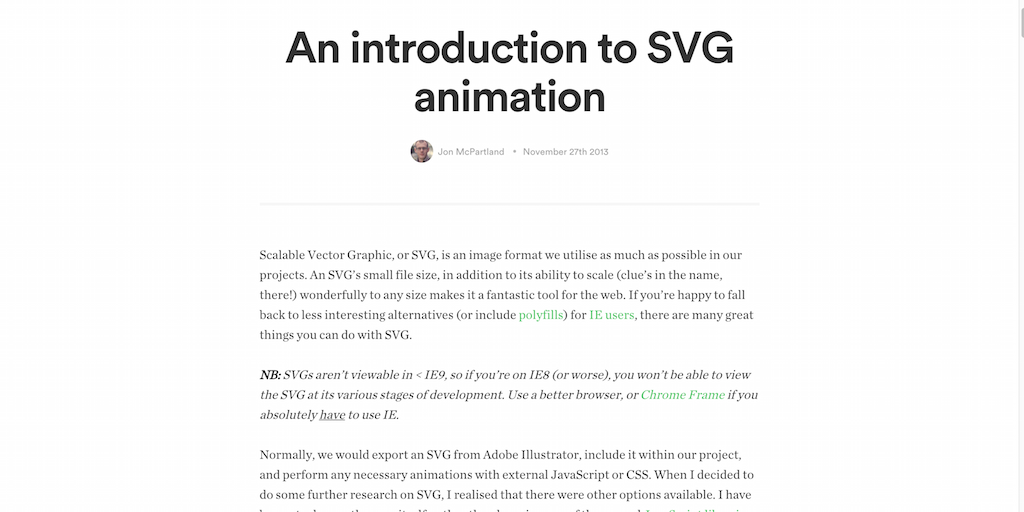 An introduction to SVG animation
