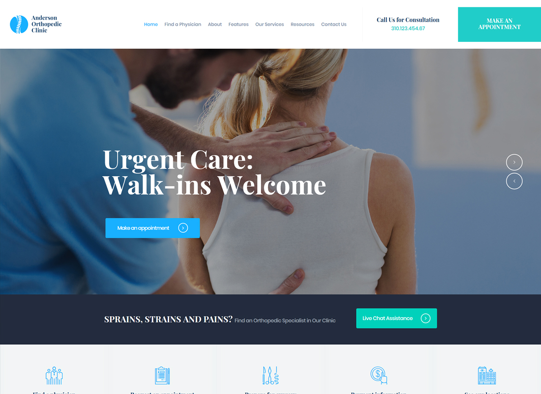Anderson | Orthopedic Clinic & Medical Center WordPress Theme