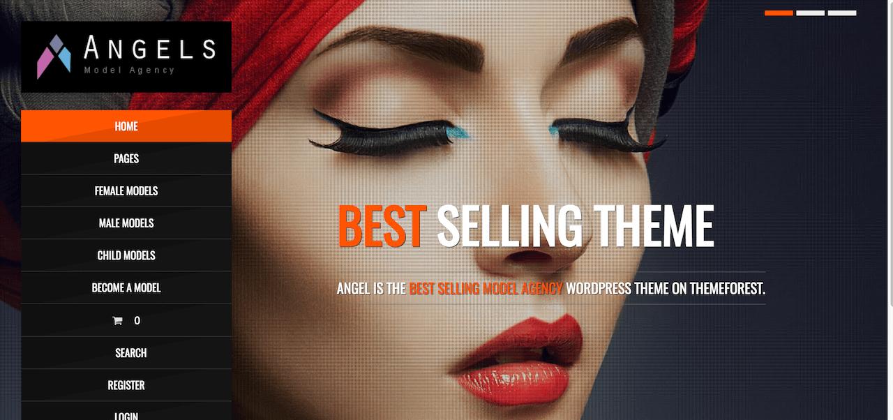 angel fashion model agency wordpress cms theme free download
