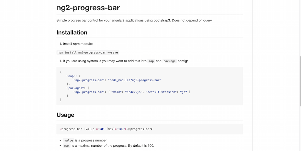Angular 2 Progress Bar
