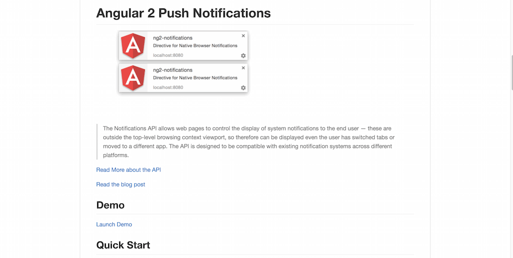 Angular 2 Push Notifications