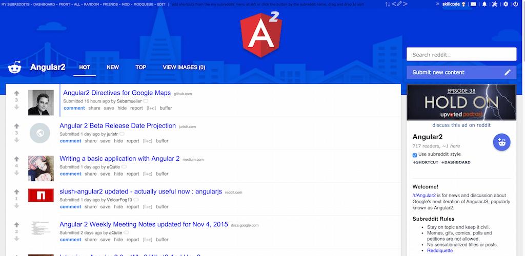 Angular2 Reddit