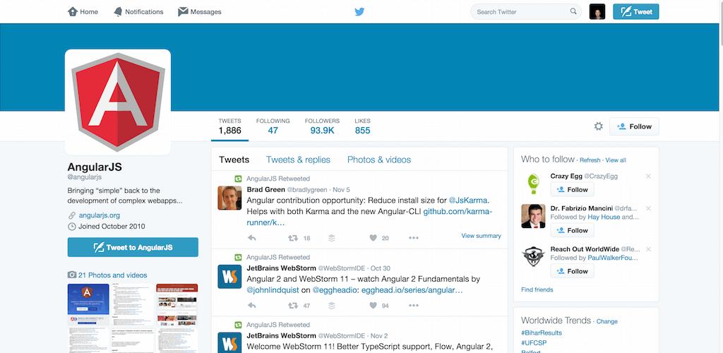 AngularJS angularjs Twitter