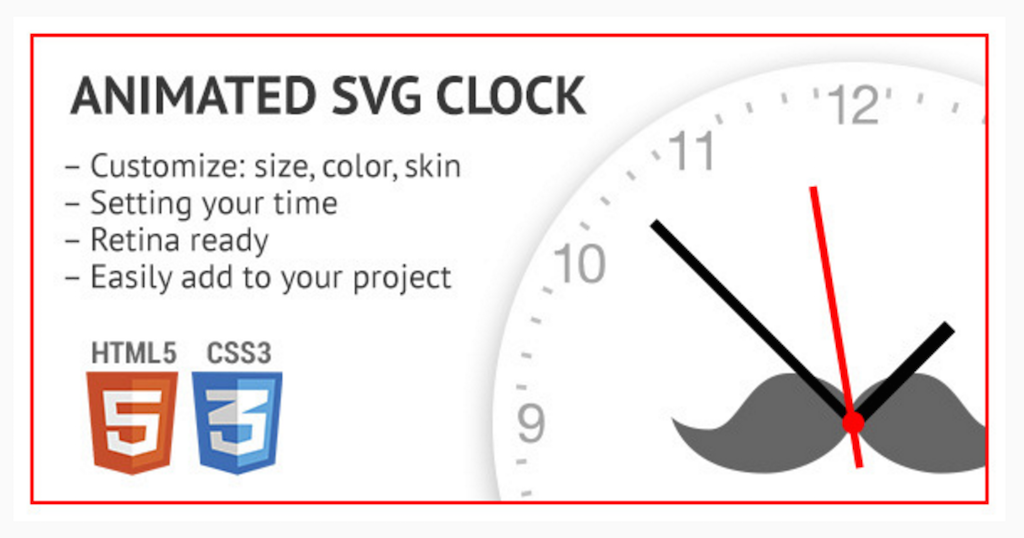 Animated SVG clock