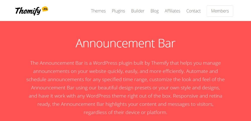 Announcement Bar