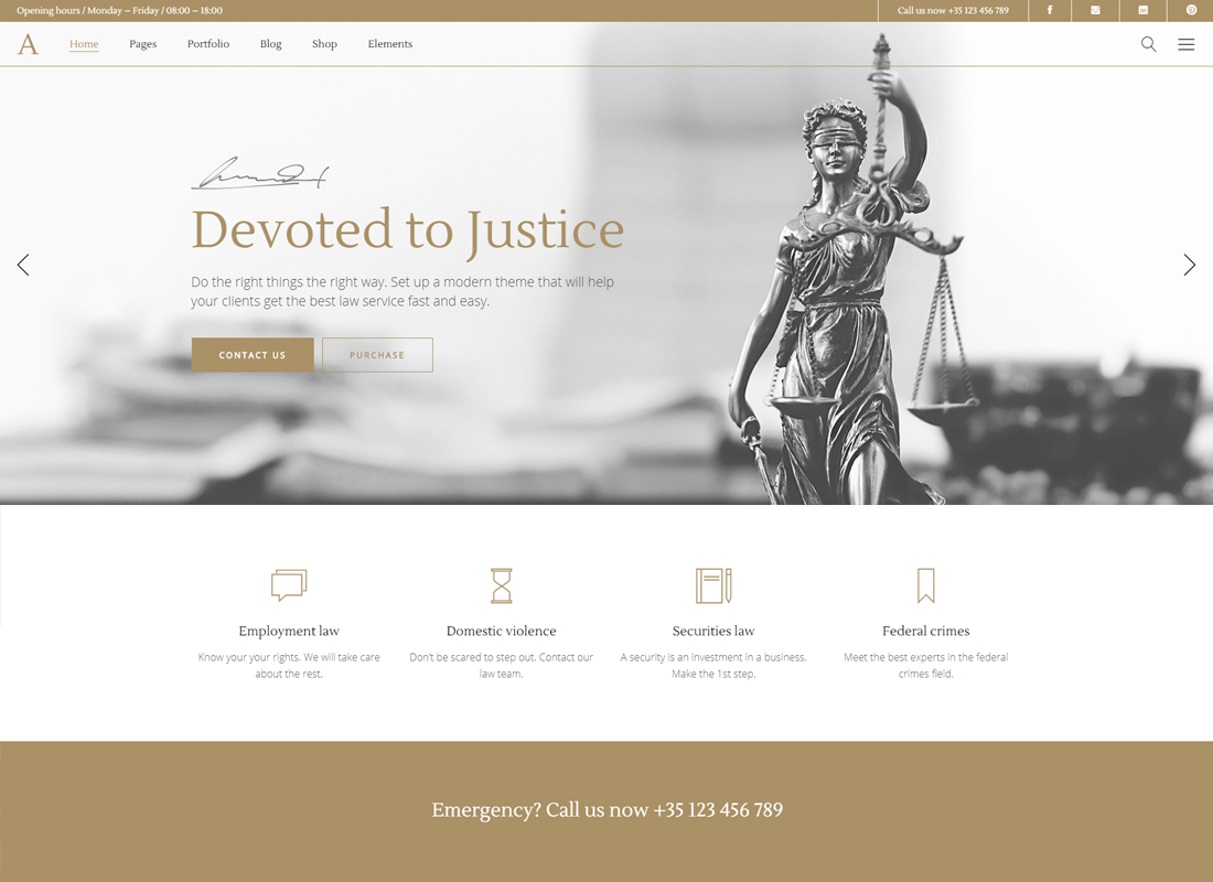 Anwalt | A Lawyer and Law Office WordPress Theme