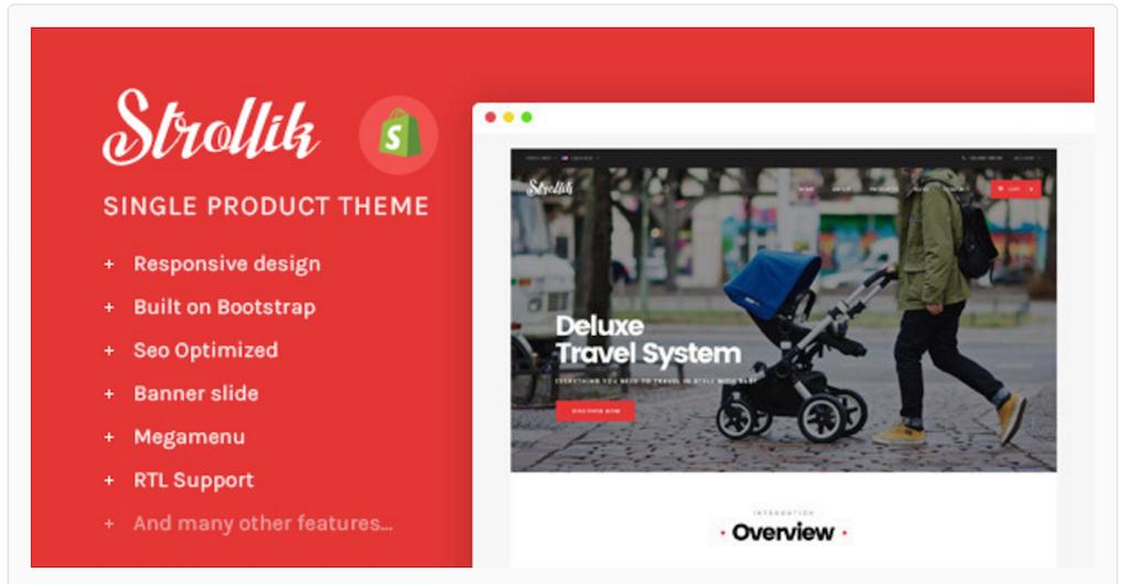 Ap Strollik - Single Product Shopify Theme