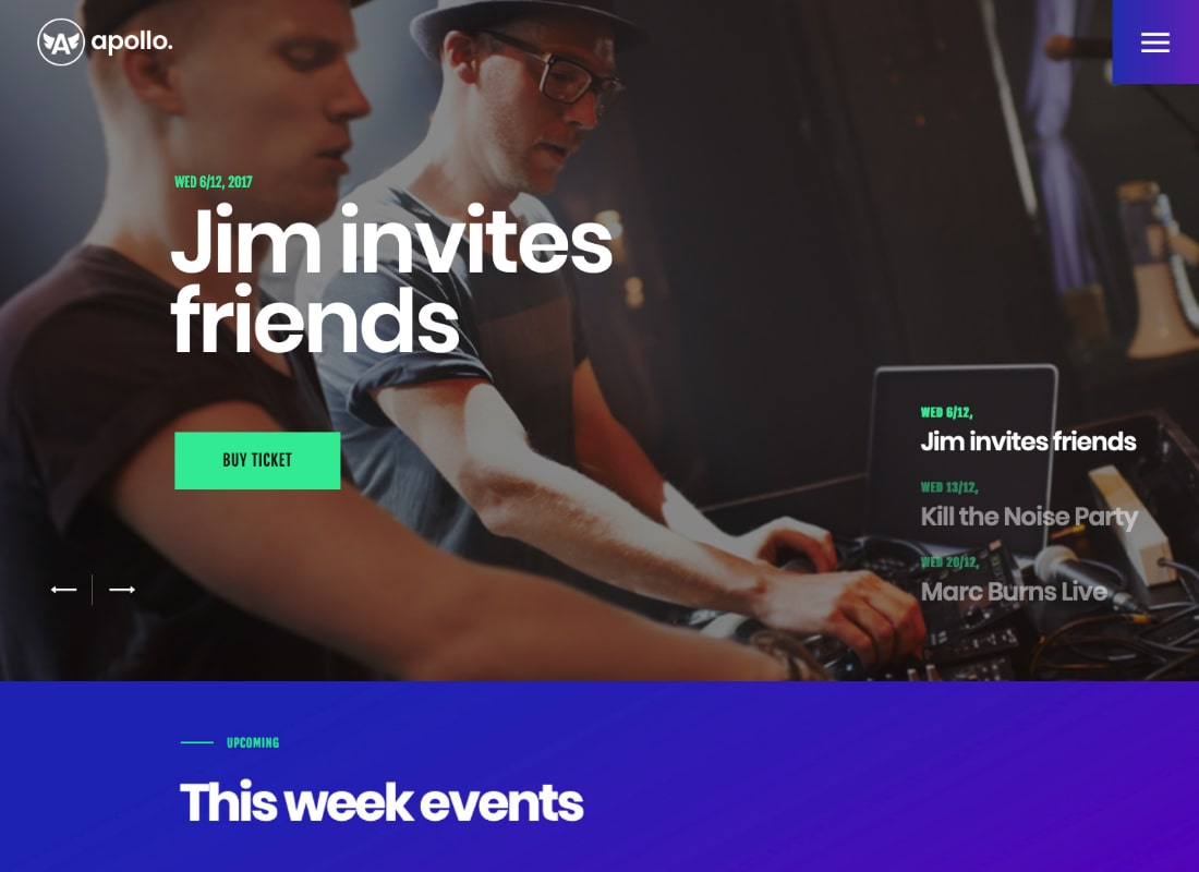 Apollo | Night Club & Event WordPress Theme