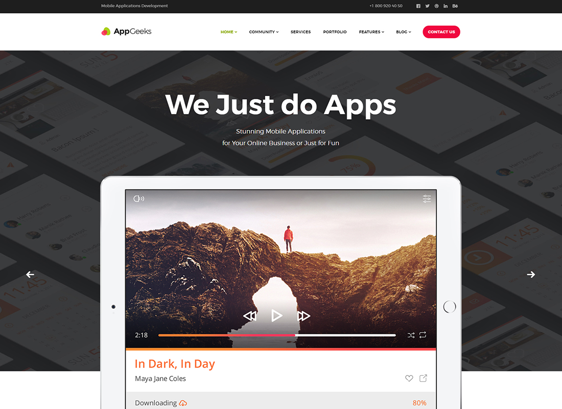 AppGeeks | A Web Studio & Creative Agency WordPress Theme
