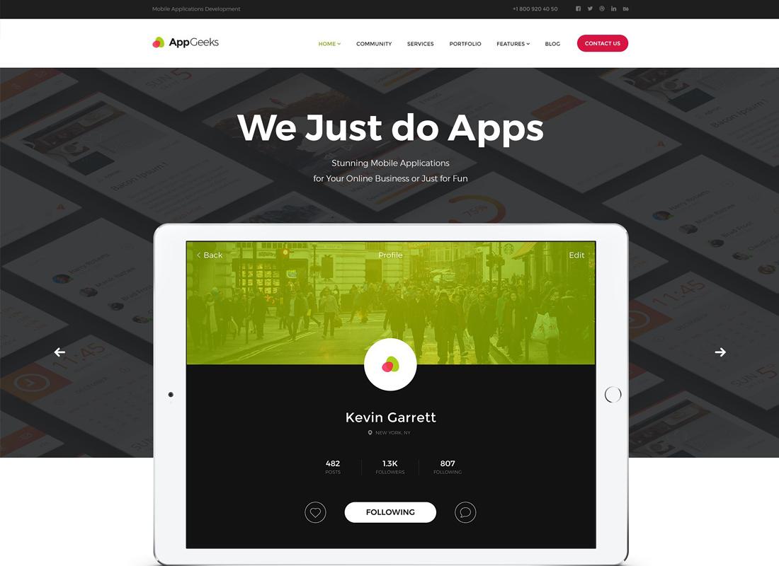 AppGeeks - A Web Studio & Creative Agency WordPress Theme