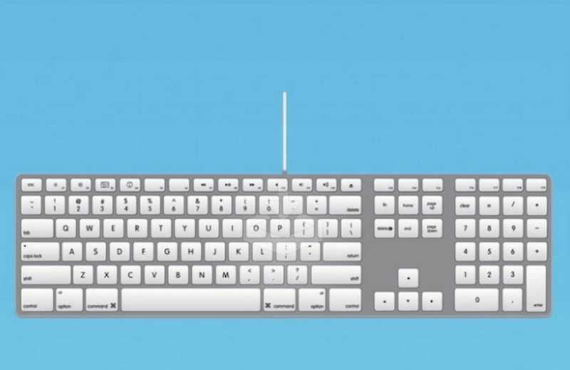 Apple Keyboard Vector