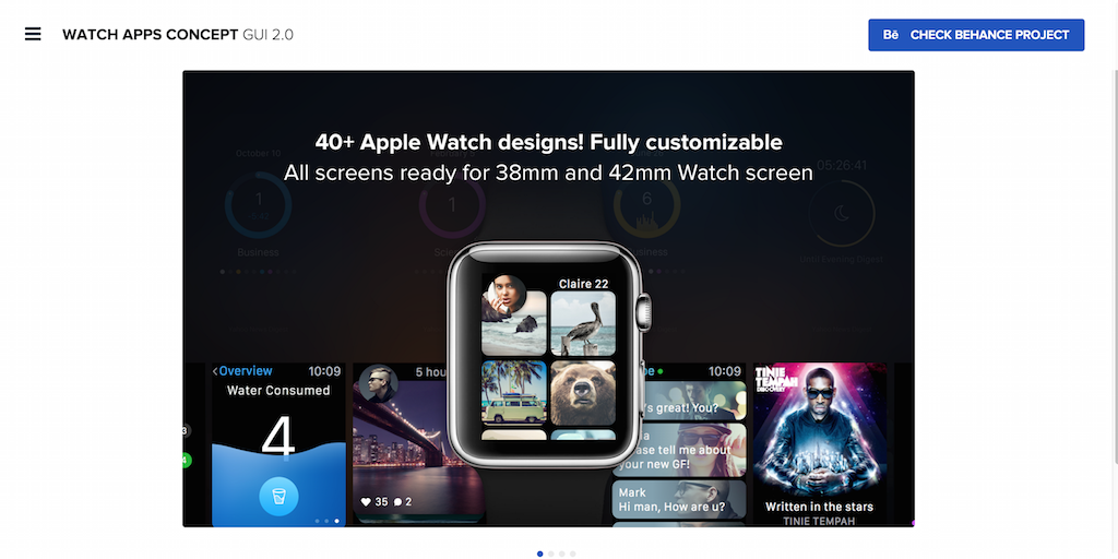 Apple Watch concept GUI