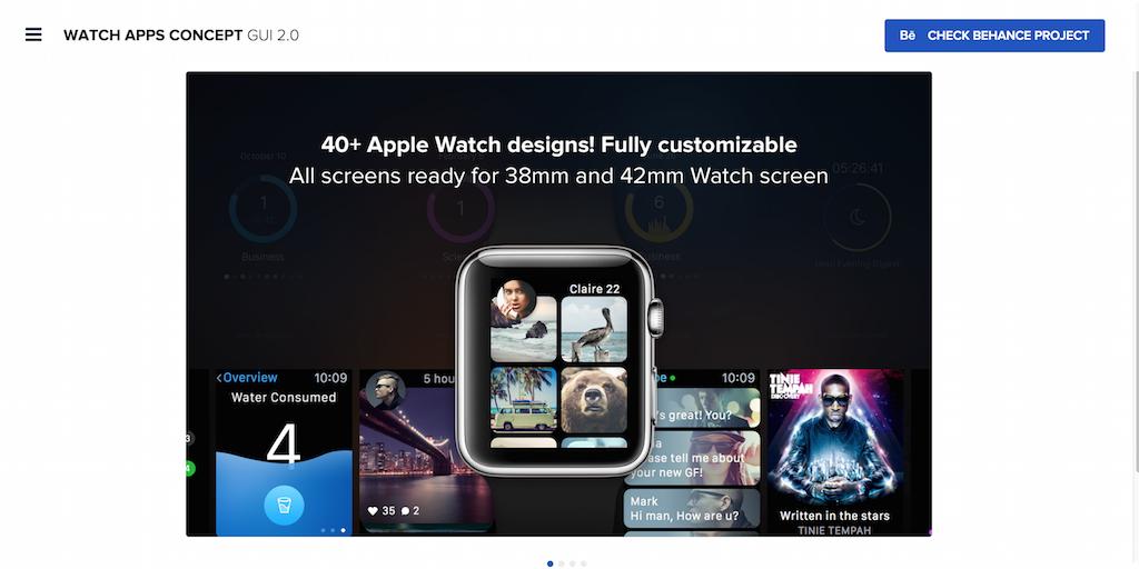 Apple Watch concept GUI