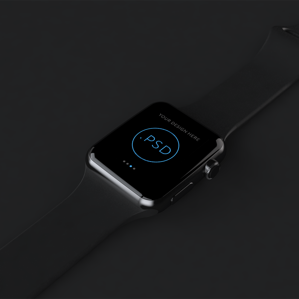 Free Stylized Apple Watch Mockup PSD