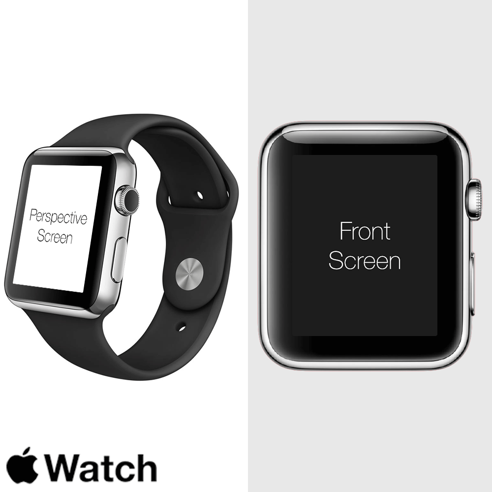 Free Apple Watch Perspective Screen PSD