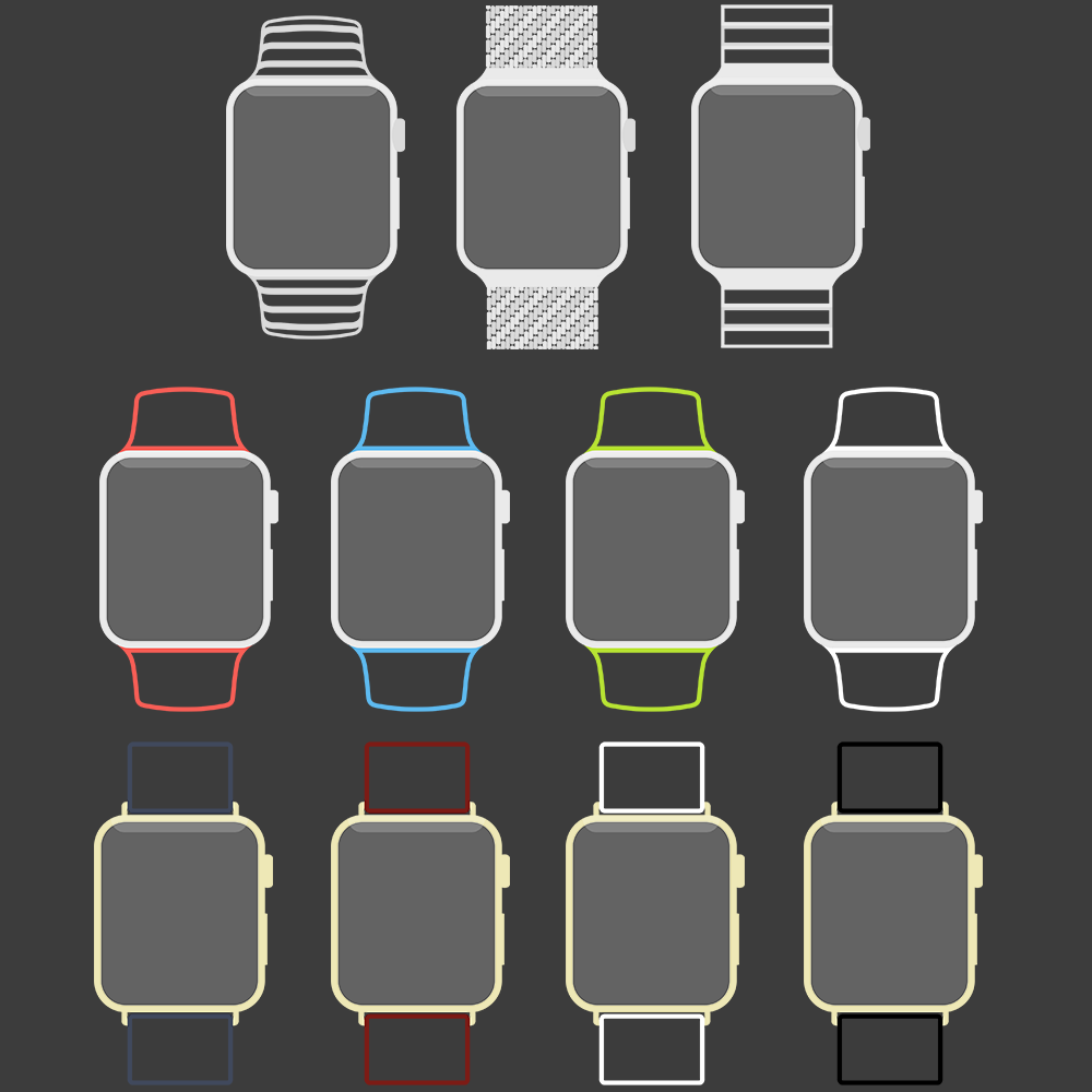 Free Apple Watch Line PSD