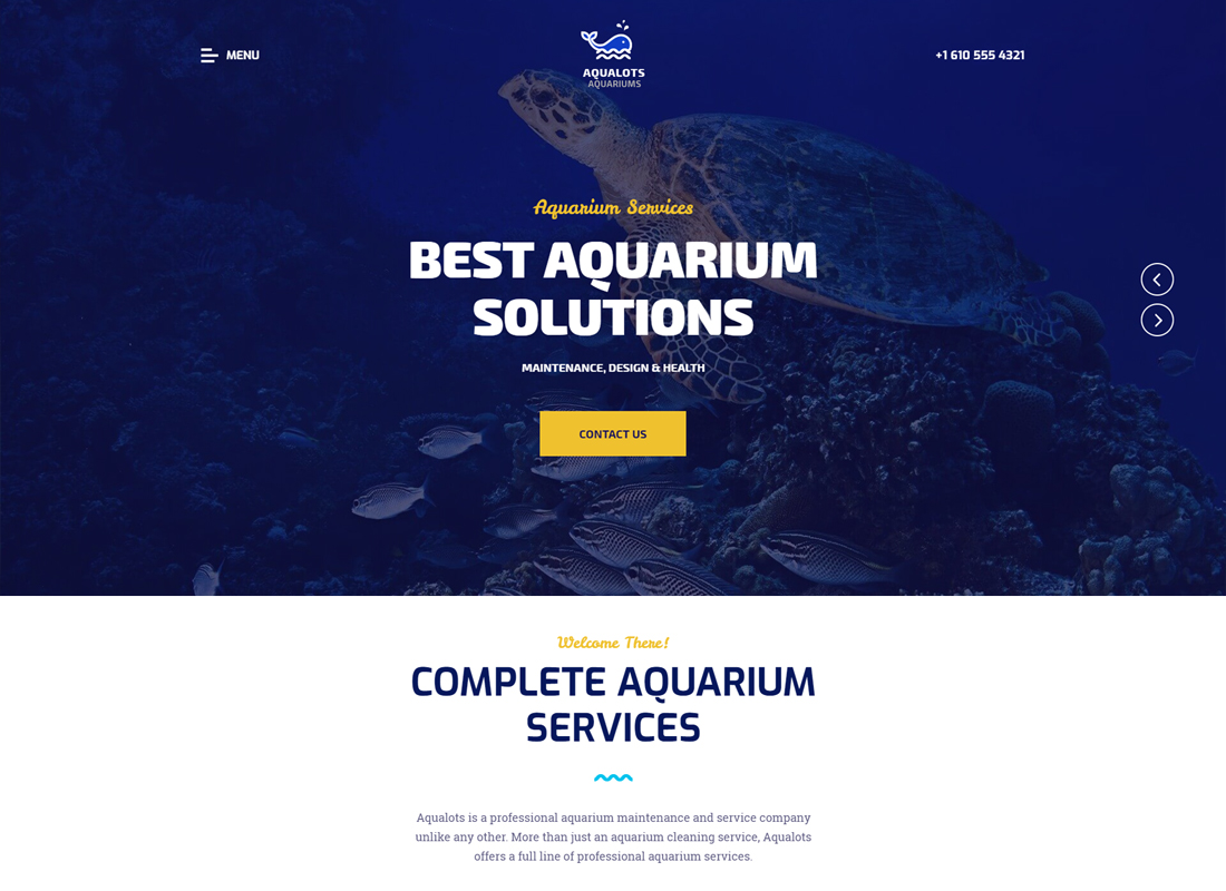 Aqualots - Aquarium Services WordPress Theme