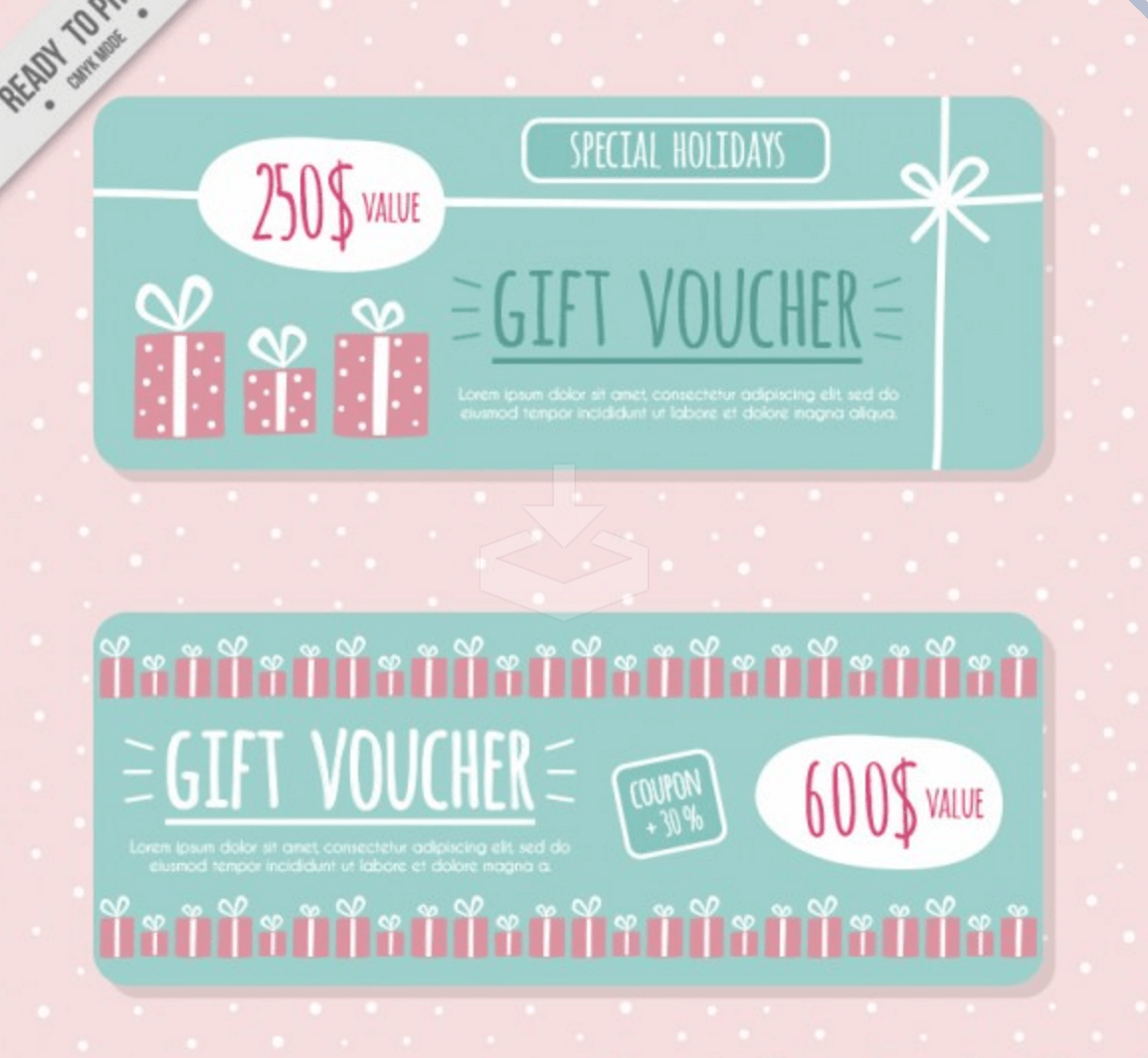 Artistic Coupon And Gift Voucher Banners  Coupons Design Templates