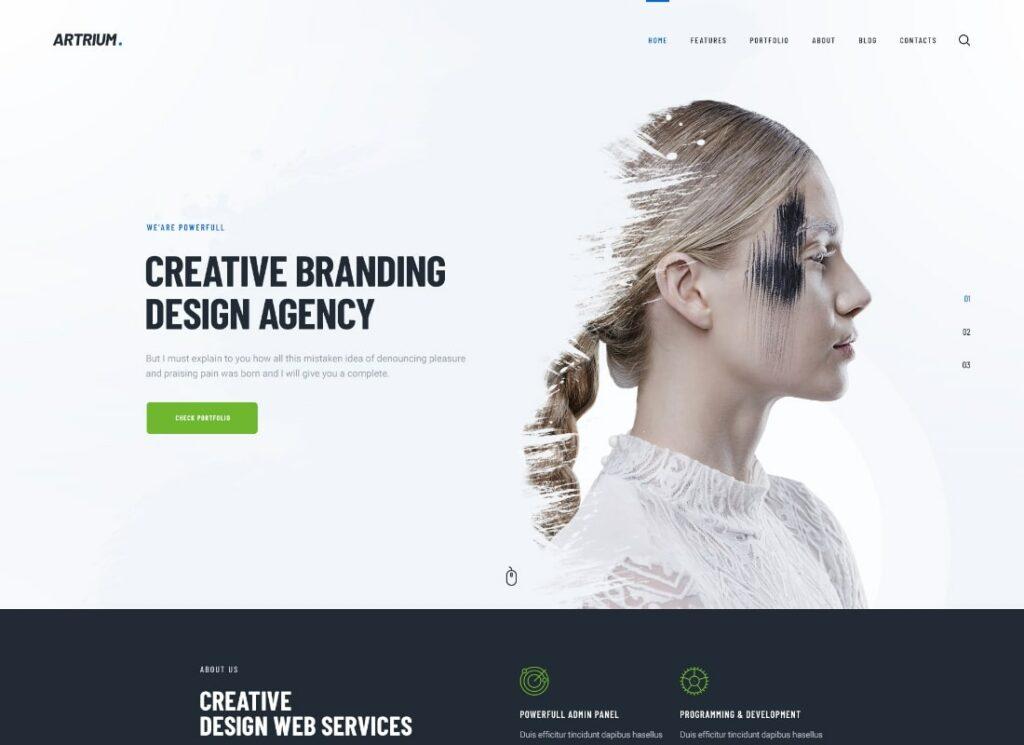 Artrium   Creative Agency & Web Studio WordPress Theme