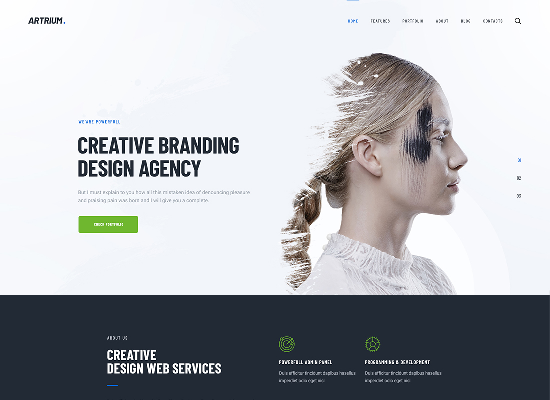 Artrium - Creative Agency & Web Studio WordPress Theme