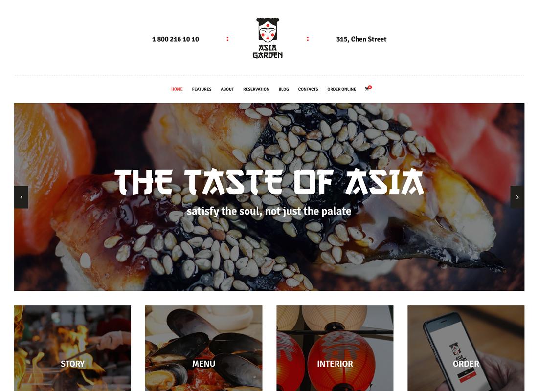 Asia Garden | Asian Food Restaurant WordPress Theme