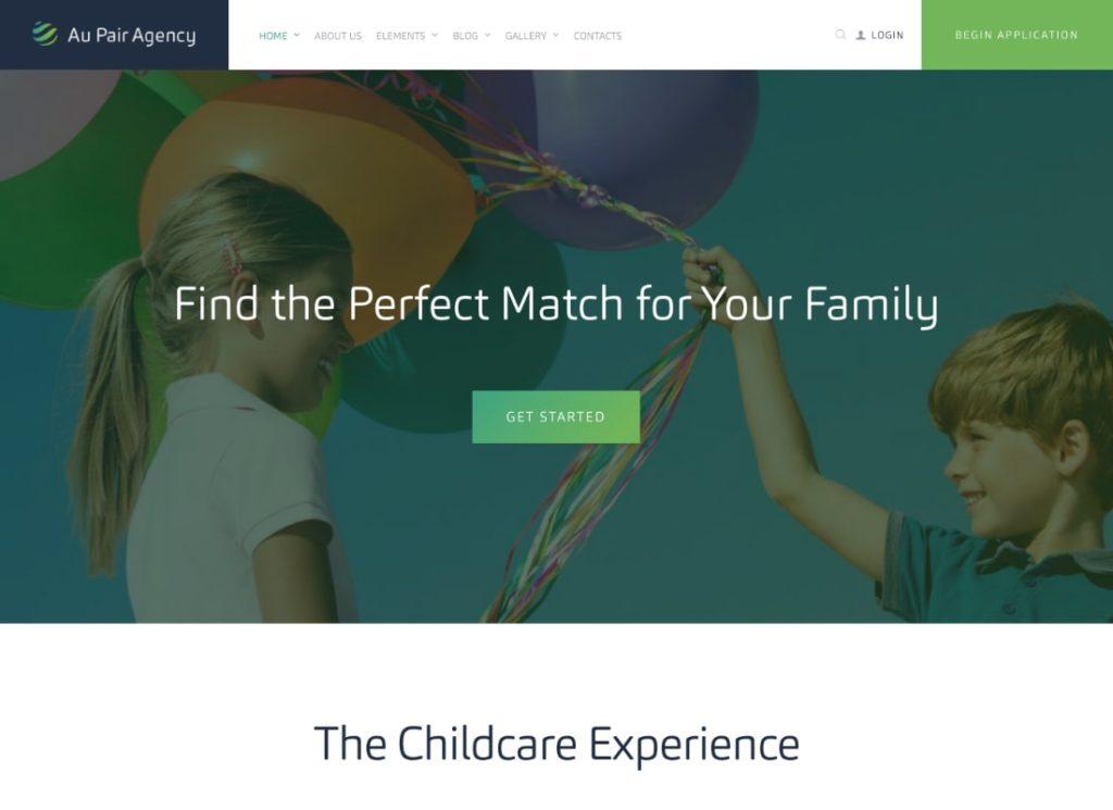 Au-Pair   Babysitting & Nanny Agency WordPress Theme