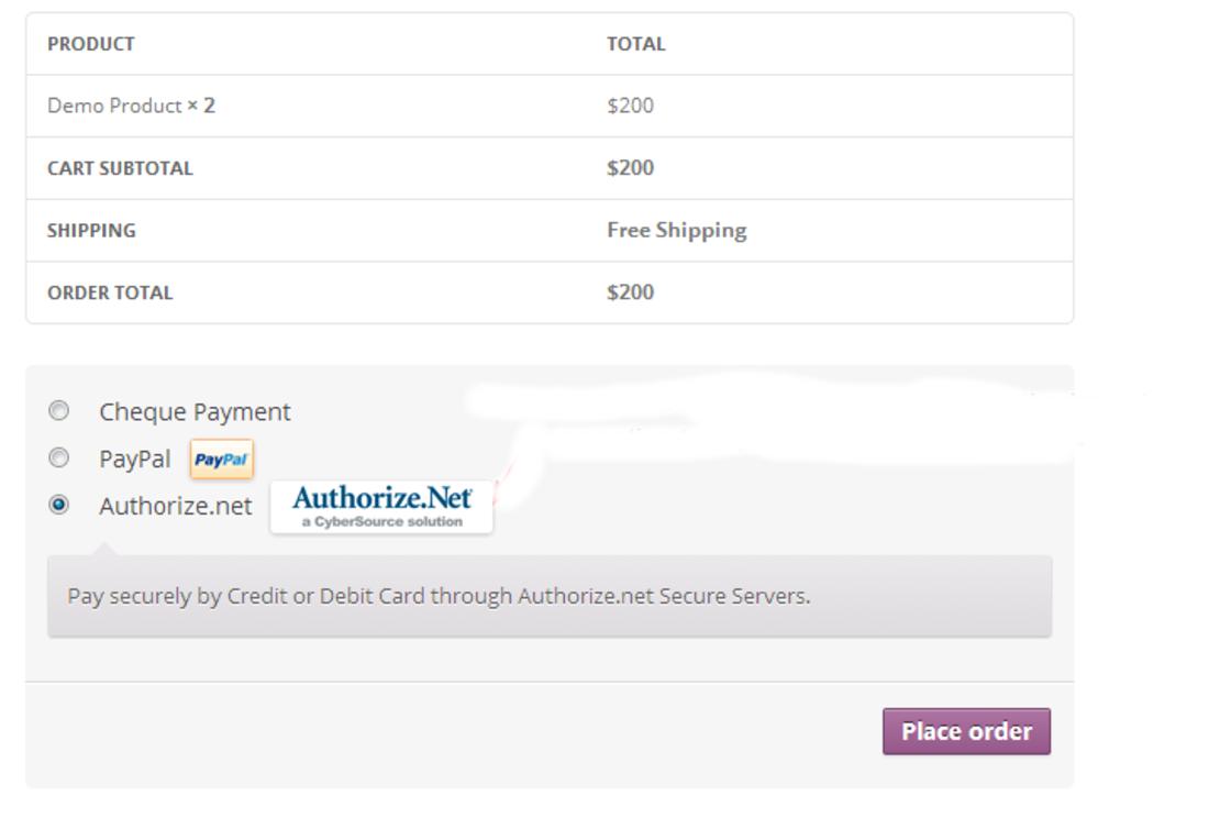 Simple WooCommerce Authorize.net Plugins