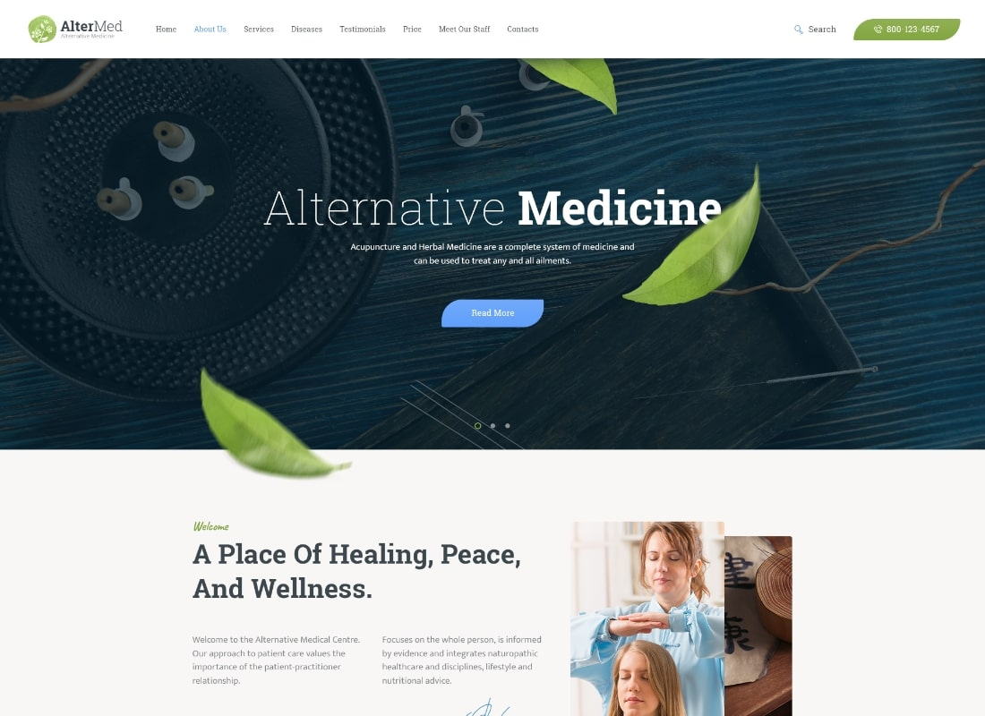 Avicenna | Alternative Folk Medicine Doctor WordPress Theme