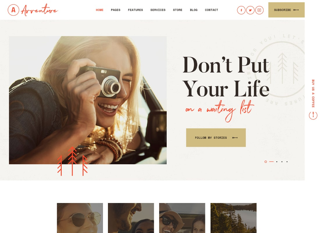 Avventure | Personal Travel & Lifestyle Blog WordPress Theme