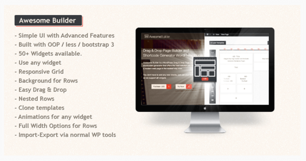Awesome Builder Drag Drop Page Builder WordPress