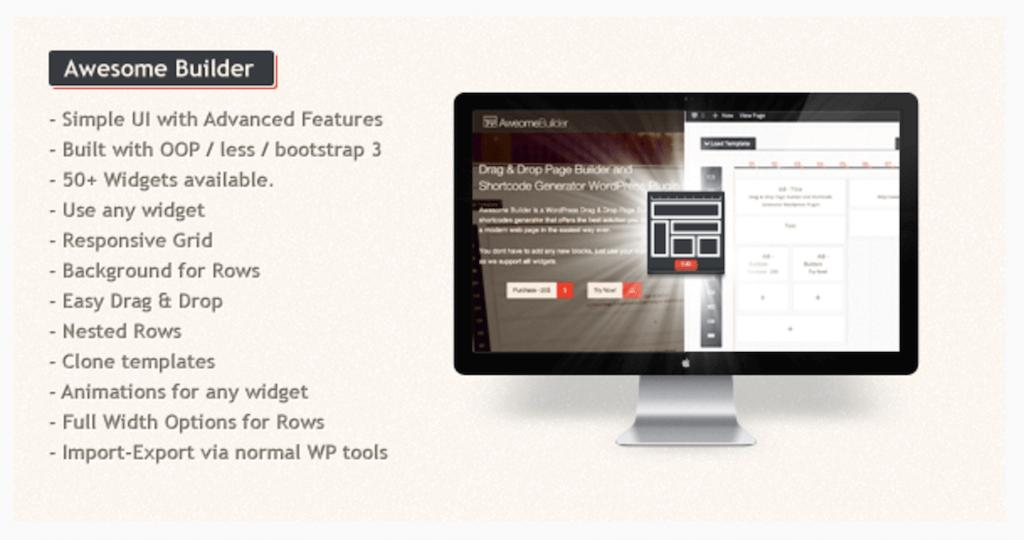 Awesome Builder Drag Drop Page Builder WordPress