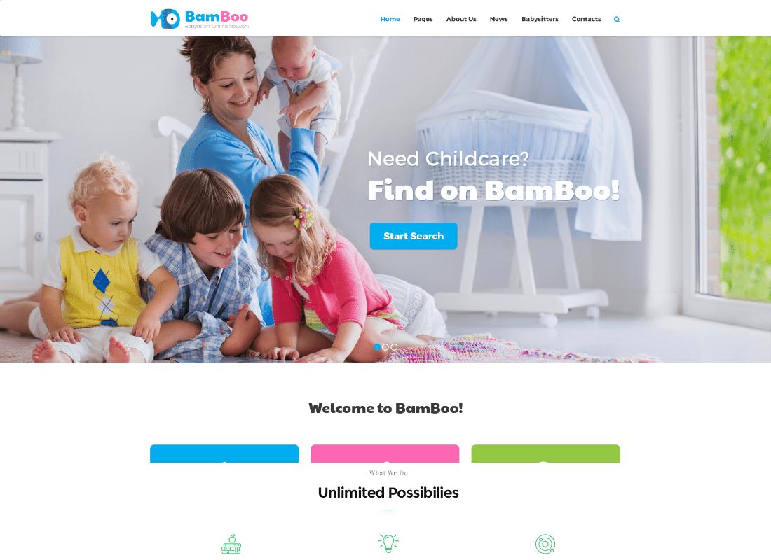 BamBoo | Child Care & Kids Babysitting Children WordPress Theme