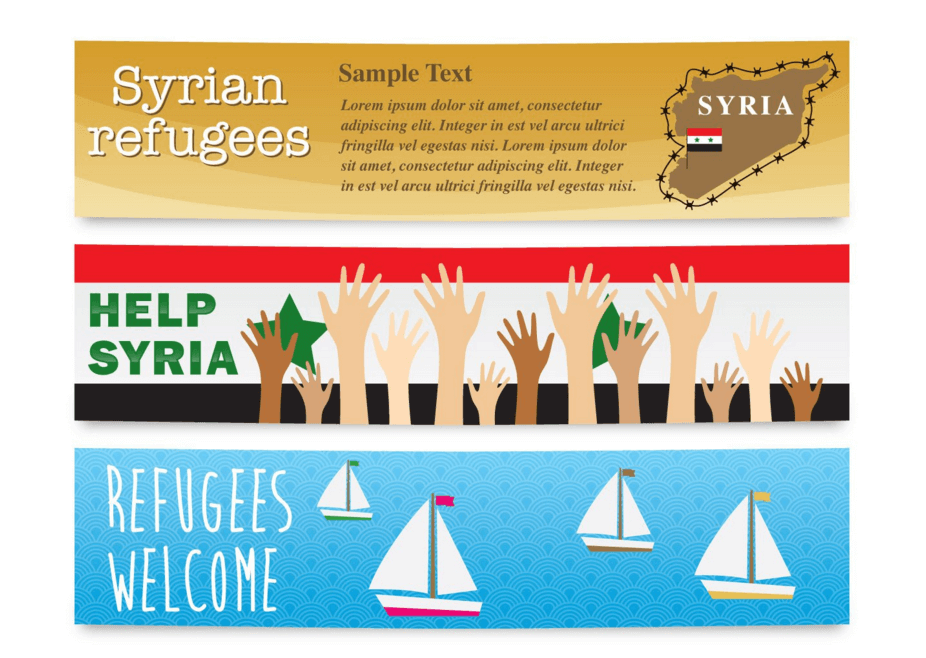 Banner for Syrian Refugee Campaigns
