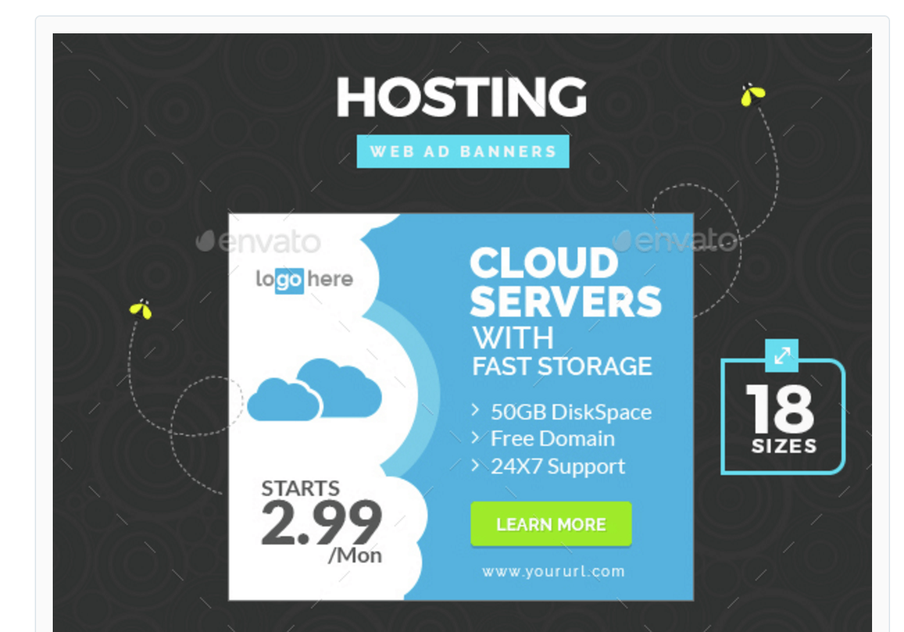 Banners for Promoting Web Hosting Offers
