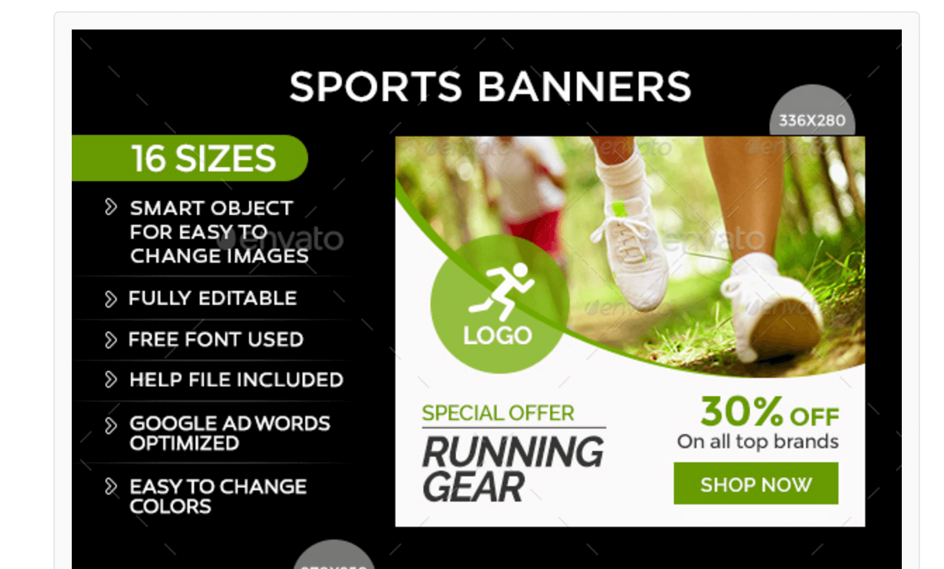 Banners for Sports Content Promotion