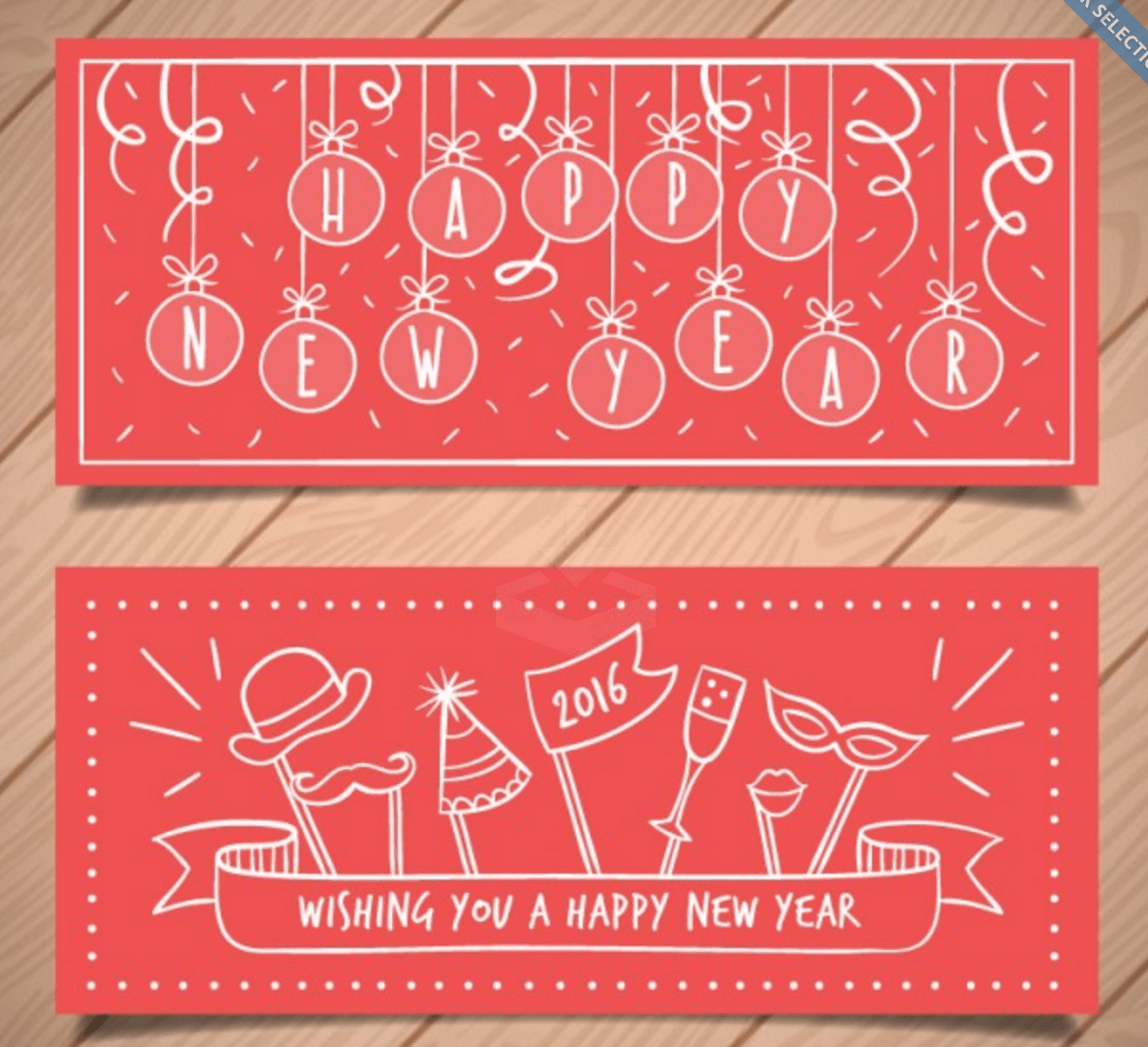Banners for Wishing a Happy New Year