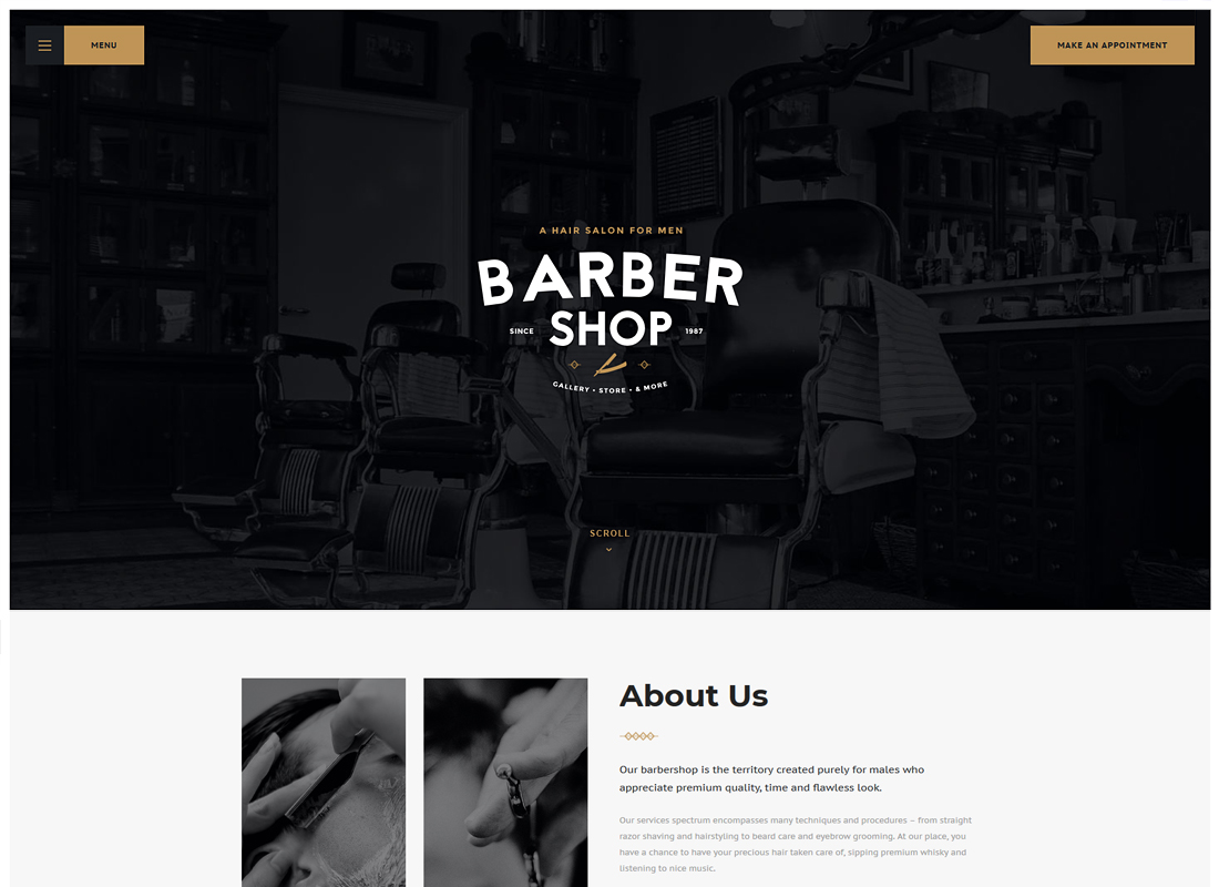 Salon - Barbershop & Tattoo Studio WordPress Theme
