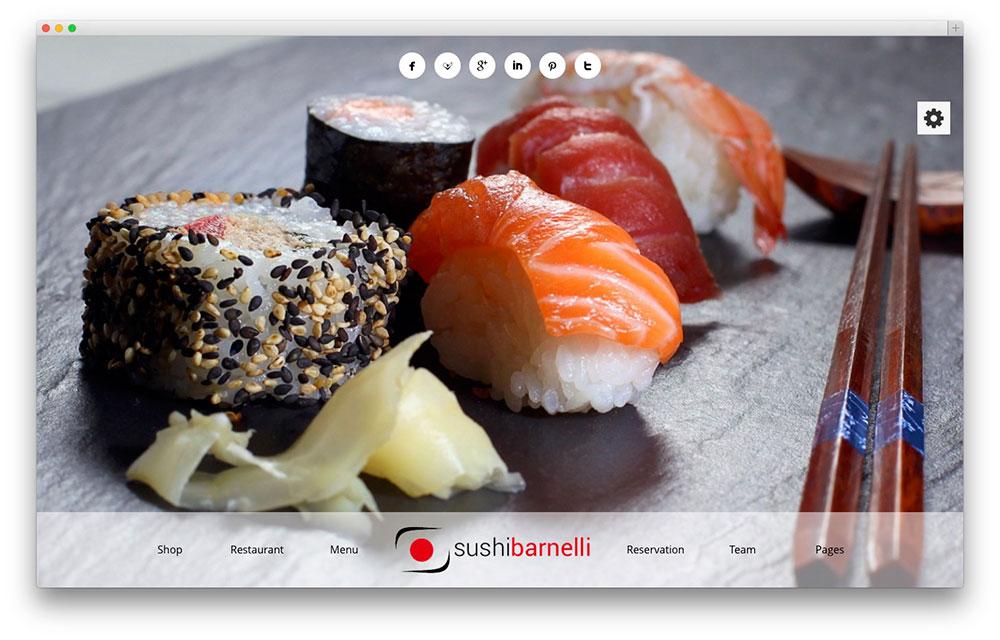Barnelli - sushi restaurant theme