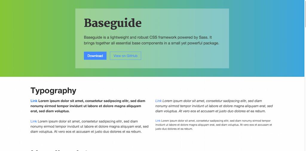 Baseguide – CSS Framework