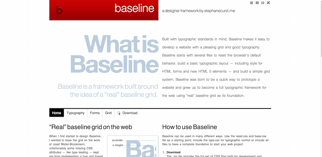 Baseline a designer framework by Stephanecurzi.me
