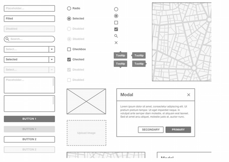 Basic Wireframe Kit Sketch