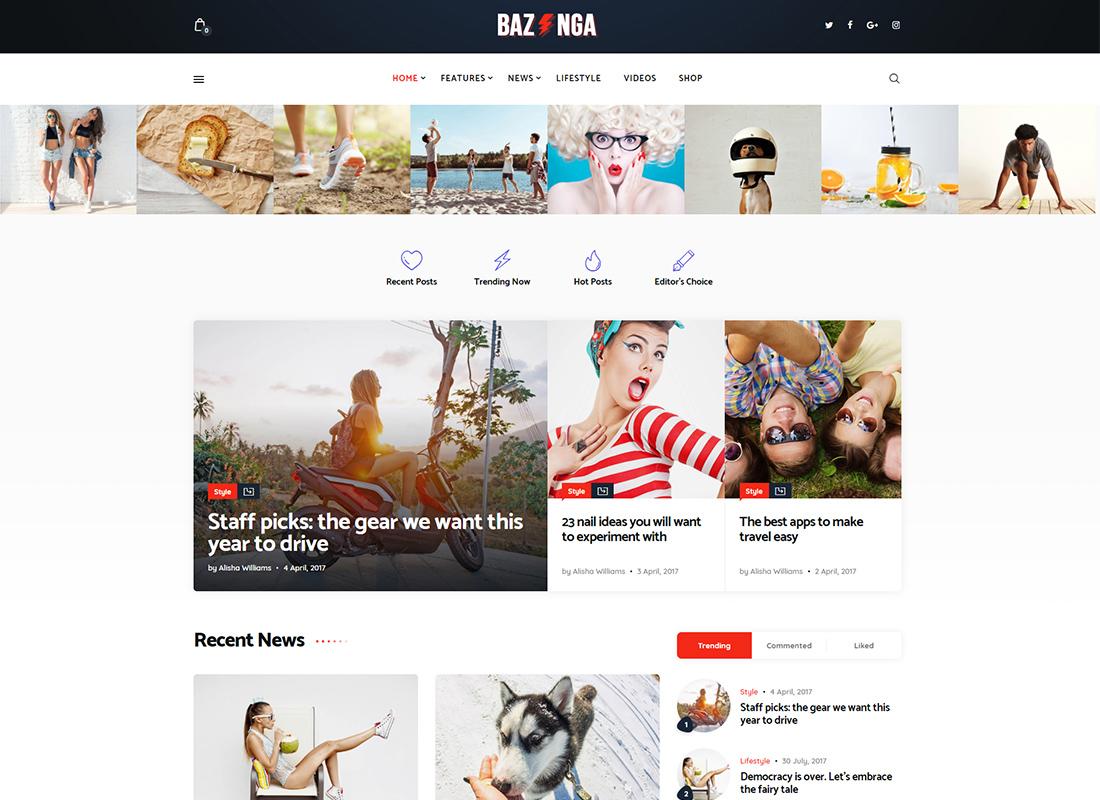 Bazinga - Magazine & Viral Blog WordPress Theme